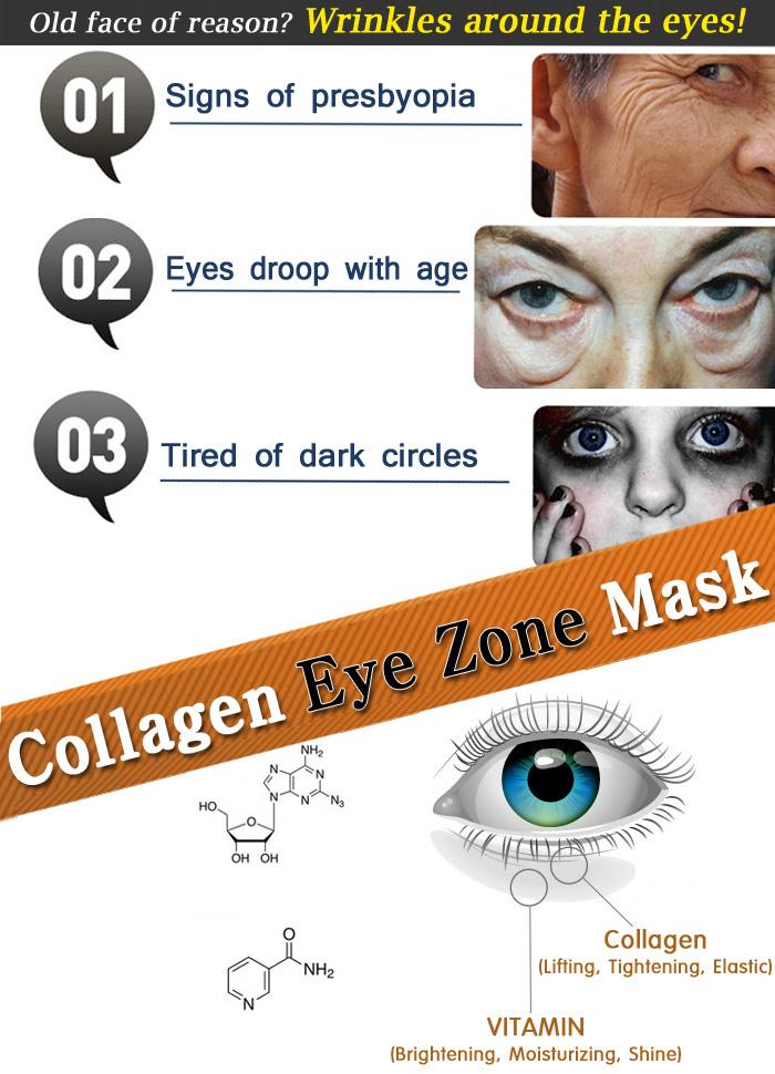 Collagen Hydro Eye Zone Mask Eye Zone White Wrinkle Care