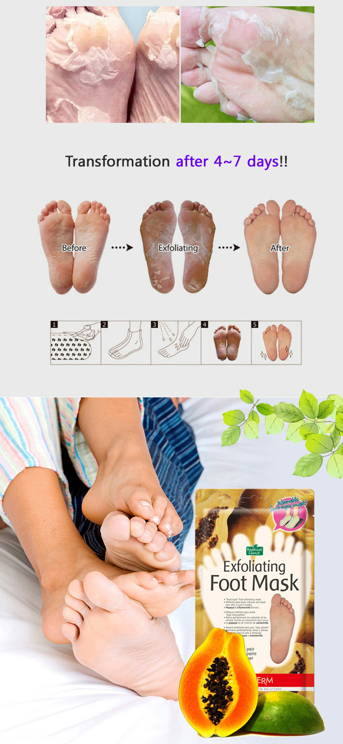 best exfoliating foot mask baby silky foot one shot. Black Bedroom Furniture Sets. Home Design Ideas