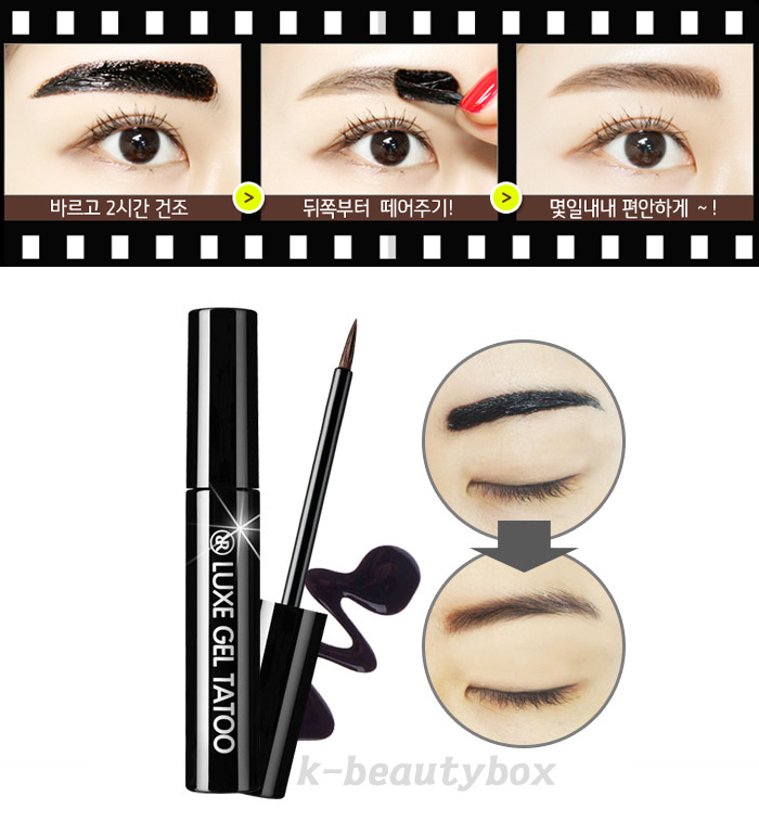 luxe gel tattoo eyebrow no 1 light brown long lasting