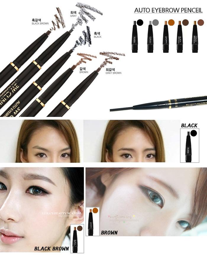 Dual Sided Auto Eyebrow Pencil 3w Clinic Eyebrow Pencil 5color