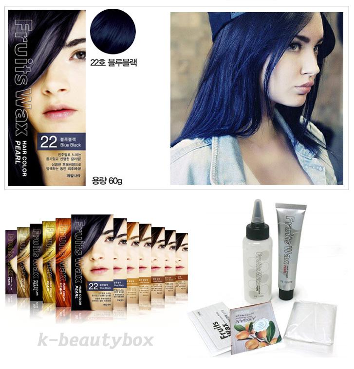 Hair Dye Fruits Wax Hair Color Pearl 22 Blue Black Stylish Hair